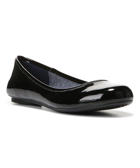 Dr. Scholls Black Patent Friendly Flat - Women  3098e86b34f