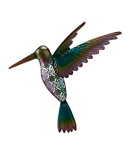 Green Filigree Cutout Hummingbird Outdoor Wall Décor