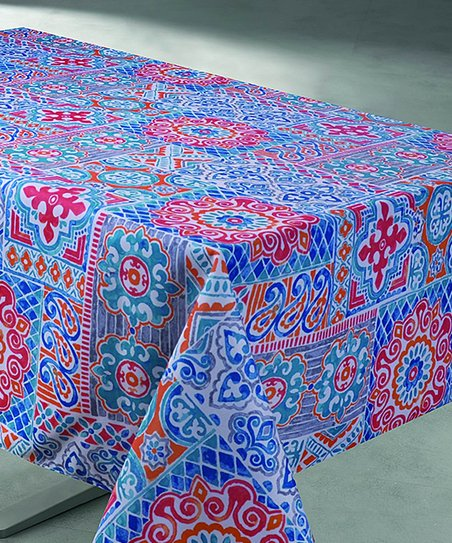 Coral Suzani Tablecloth