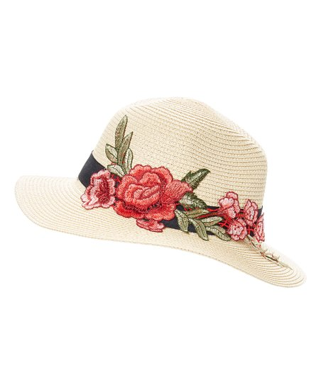 f4f6029b7fe love this product Cream   Red Floral Floppy Hat