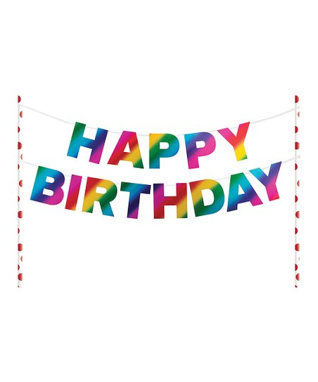 Love This Product Rainbow Foil Happy Birthday Cake Banner