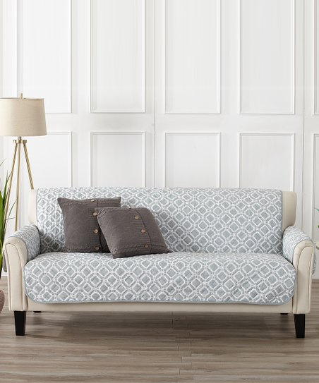 Storm Gray Liliana Reversible Furniture Protector by Home Fashion Designs