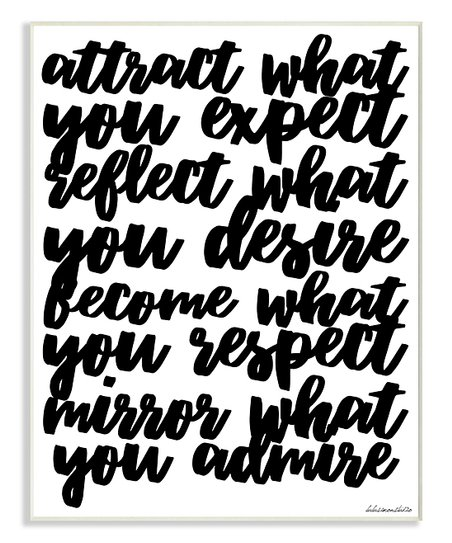 Stupell Industries 'Mirror What You Admire' Cursive Wall Art