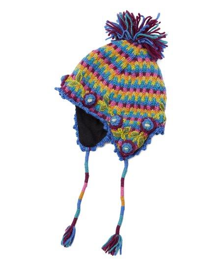 adea06dc680 Icelandic Design Blue Vidya Wool Earflap Beanie