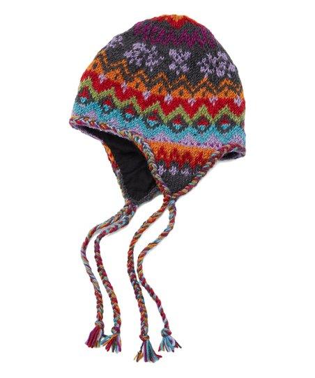 6aa2b35f93c Icelandic Design Charcoal Nordic Wool Earflap Beanie