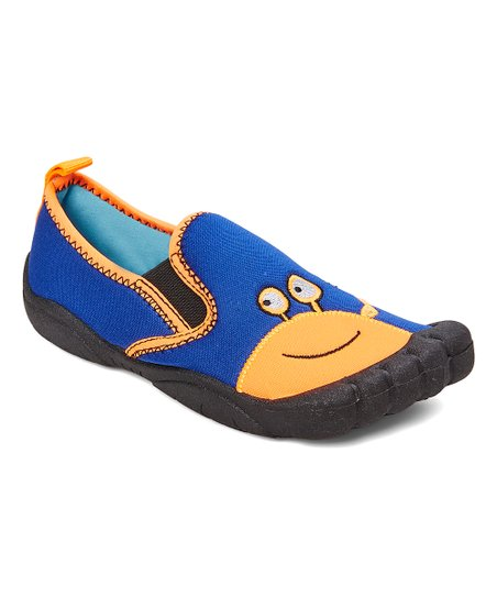 d932b44038ad love this product Royal Blue   Orange Crab Water Shoe - Boys