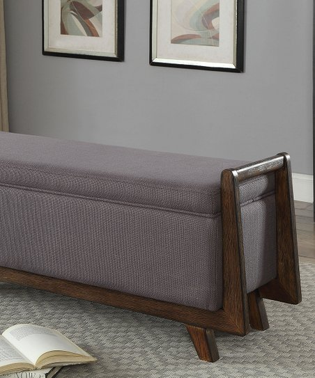 Incredible Serendipity Dark Gray Contemporary Storage Bench Theyellowbook Wood Chair Design Ideas Theyellowbookinfo
