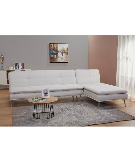 Ivory Palmdale Convertible Sectional Sofa Bed