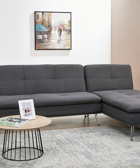 Charcoal Palmdale Convertible Sectional Sofa Bed