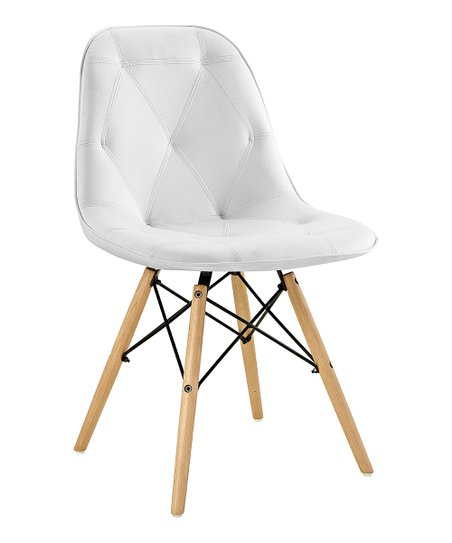 Superieur Walker Edison White Tufted Faux Leather Accent Chair   Set Of Two