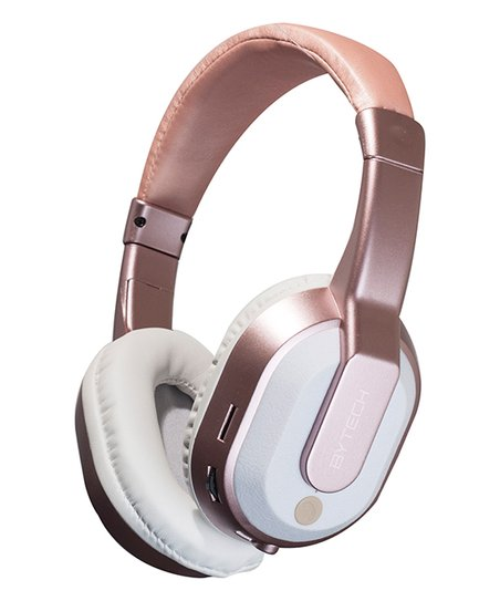 4839460c592 love this product Rose Gold Bluetooth Chrome Headphones & Case