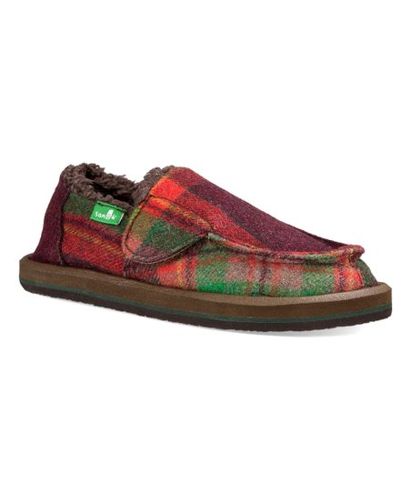 afe885dbb6a love this product Red   Green Plaid Vagabond Chill Slip-On - Kids