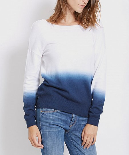 1a9da9ff3f love this product White   Night Iris Ombré Sweatshirt - Women