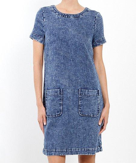 ced943720ef Three Dots Denim Blue Shift Dress - Women