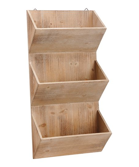 Three Tier Wood Hanging Planter Zulily