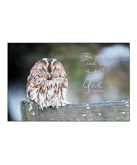 Be Still Know That I Am God Wall Art Zulily