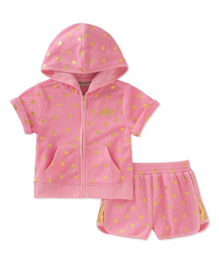 love this product Pink  Juicy  Zip-Front Hoodie   Shorts - Toddler   Girls 28270216f2