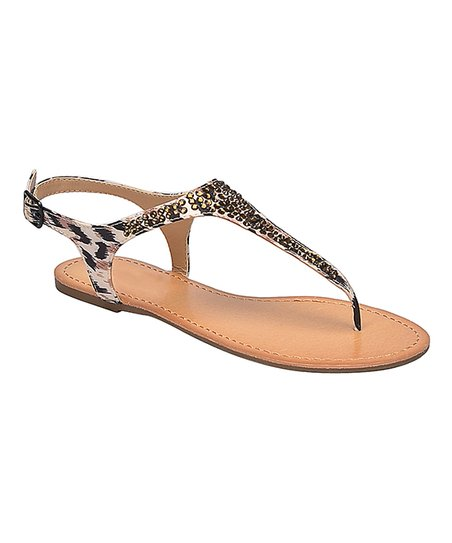 c0e8f35c89a5 love this product Tan Cheetah Print Choice T-Strap Sandal - Women