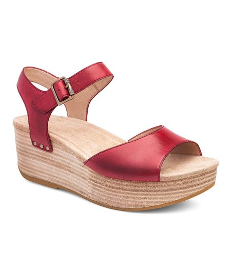 be1ec7521b8d love this product Red Silvie Leather Platform Sandal - Women