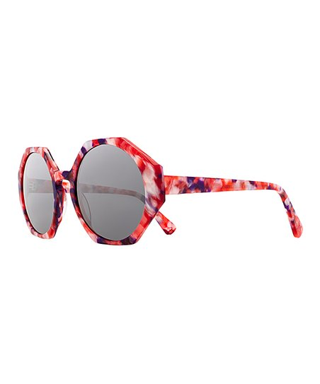 bef5037bf20f8 Joes Jeans Candy Marble   Smoke Geo Round Eyeglasses