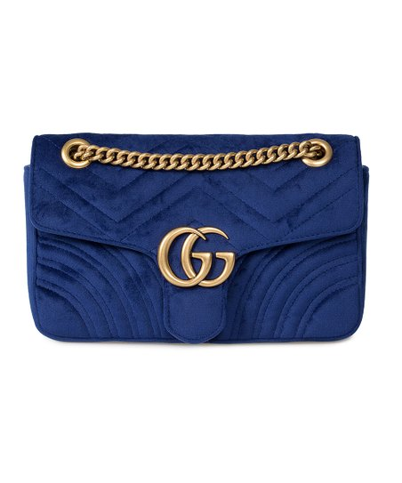 d3817d77e327 Gucci Dark Royal Blue Marmont Velvet Crossbody Bag | Zulily