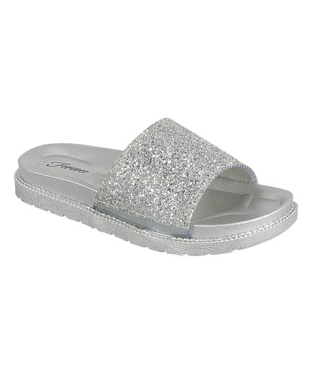 6ae2971e491c love this product Silver Glitter Hall Slide - Women