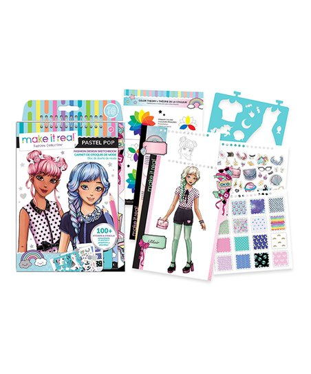 Make It Real Fashion Design Sketchbook Pastel Pop Kit Best Price And Reviews Zulily