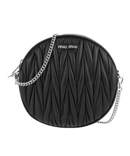 Miu Miu Black Braid-Embossed Nappa Leather Crossbody Bag  52d5f9fba4b04