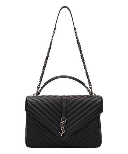 YSL Black Chevron Quilted Leather Crossbody Bag  32675528891b2