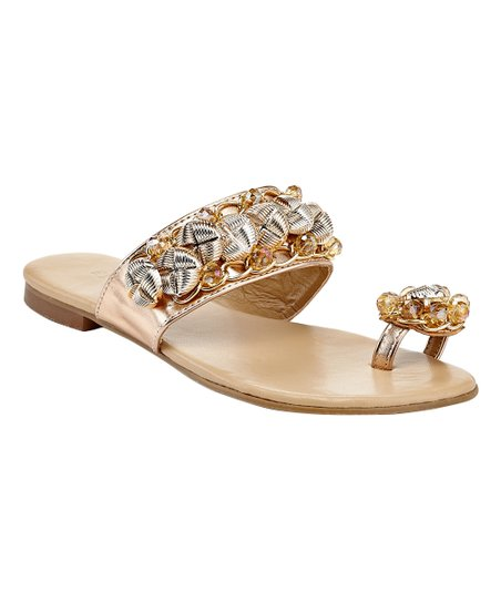 eb3d391ede01 EXTREME by Eddie Marc Rose Gold Dina Sandal - Women