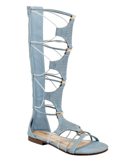 62bc3699338 EXTREME by Eddie Marc Light Blue Blaze Gladiator Sandal - Women