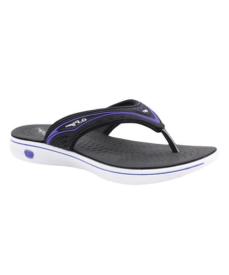 cd605561a love this product Purple   White Thong Flip-Flop Sandal - Women