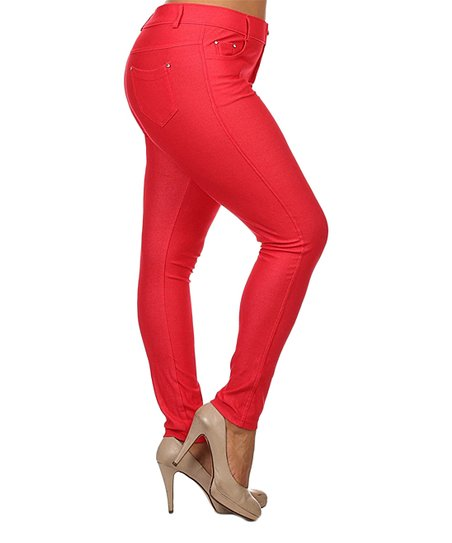 0f4f7011c3c30 love this product Red Jeggings - Women