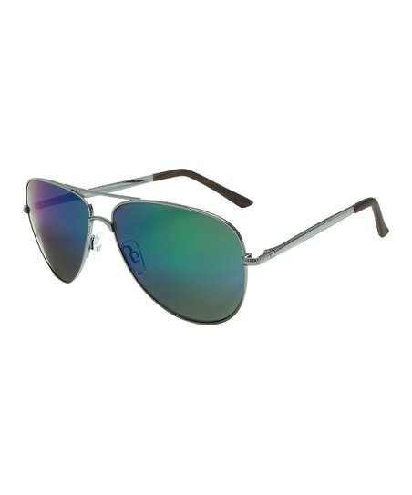 c3581c2b565d love this product Gunmetal   Ocean Mirror Aviator Sunglasses