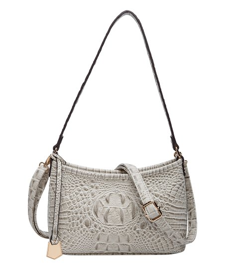 967561494a1826 MKF Collection by Mia K. Farrow Light Gray Croc-Embossed Lisbeth ...