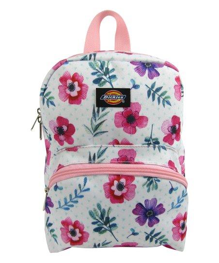 Dickies White & Pink Floral Mini Backpack
