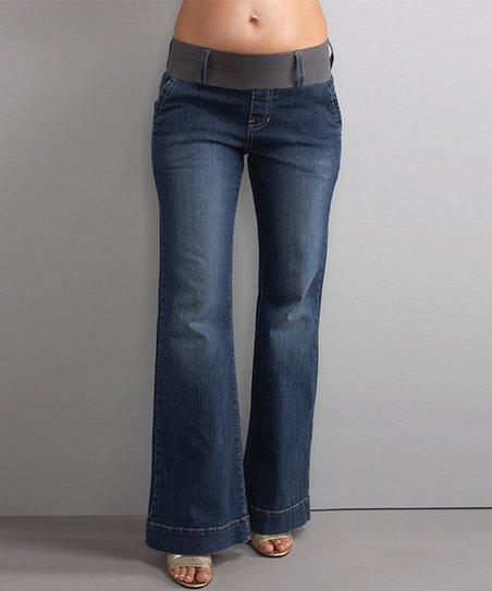 7d2c03b63b608 love this product Blue Denim Megan Under-Belly Maternity Trouser Jeans