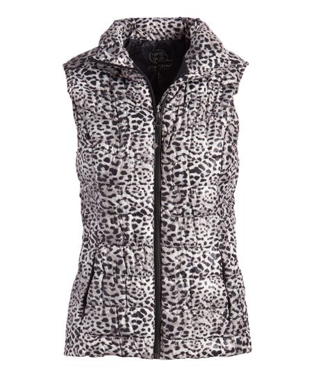 48f74401cc1982 Betsey Johnson® Leopard Print Down Puffer Vest - Women