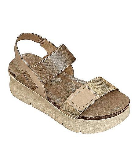 f7992e496bc5 Pierre Dumas Gold Sporty Platform Sandal - Women