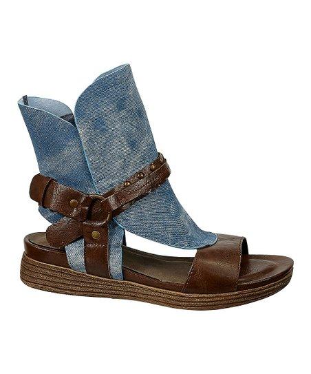 Blue \u0026 Brown Hi-Top Kory Sandal - Women