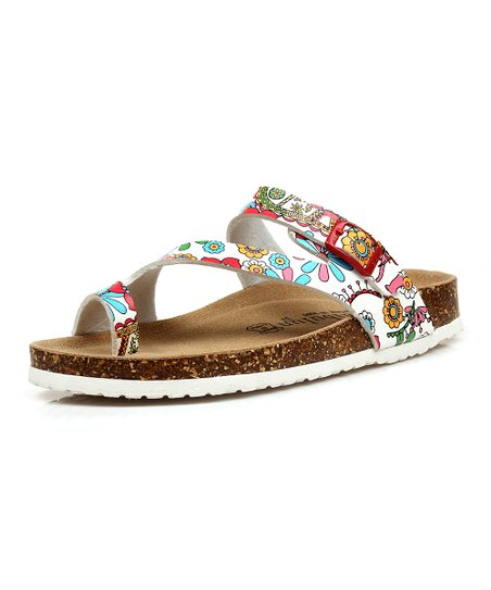 5e4f3ee72fdc love this product White   Pink Floral Sandal - Women