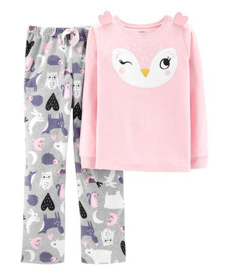 4ac0ecf112c0 Carters Pink Owl Ears Pajama Set - Toddler