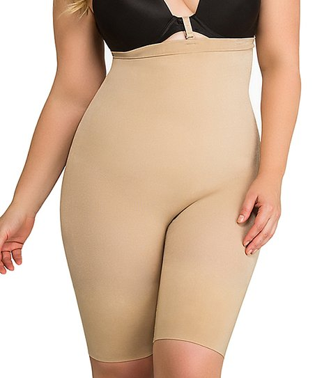 dd2388ebc11 ToBeInStyle Beige High-Waist Seamless Shaper Shorts - Women