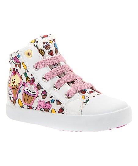Geox White Kilwi Sneaker Girls