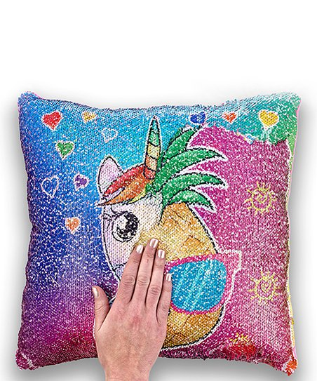 Hot Stuff Sequin Reversible Pillows Pineapple Unicorn Zulily