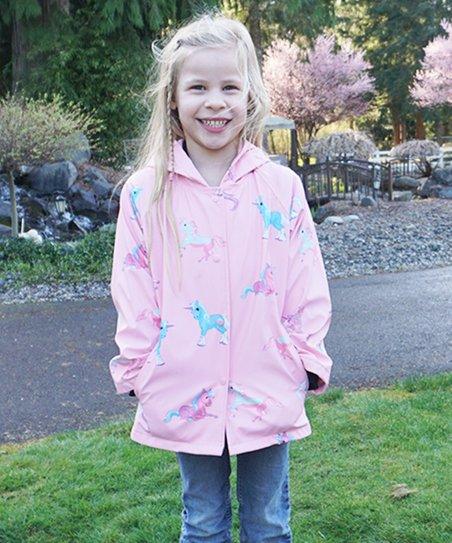 e709fc62904f Foxfire Pink Unicorn Raincoat - Infant