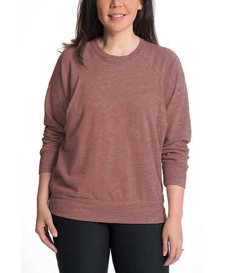 1086a010e89c4 Bun Maternity Desert Blush Maternity/Nursing Sweatshirt | Zulily