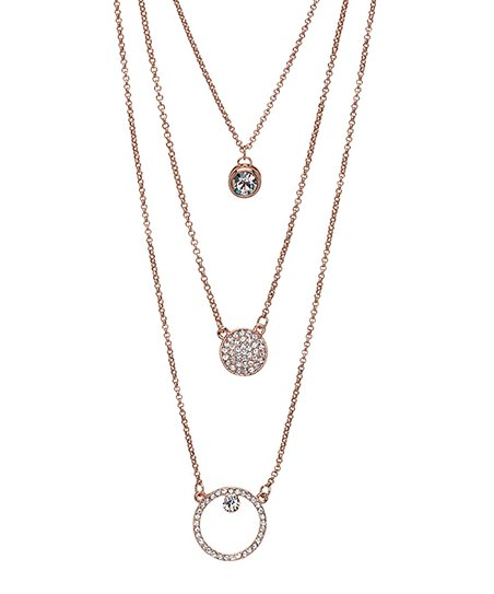 1617e97cf love this product Rose Goldtone Circle-Tier Necklace With Swarovski®  Crystals