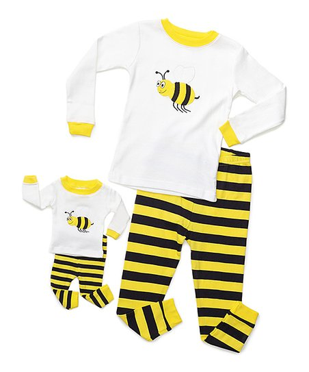 ada36f474494 love this product White   Yellow Bee Pajama Set   Doll Outfit - Toddler    Girls