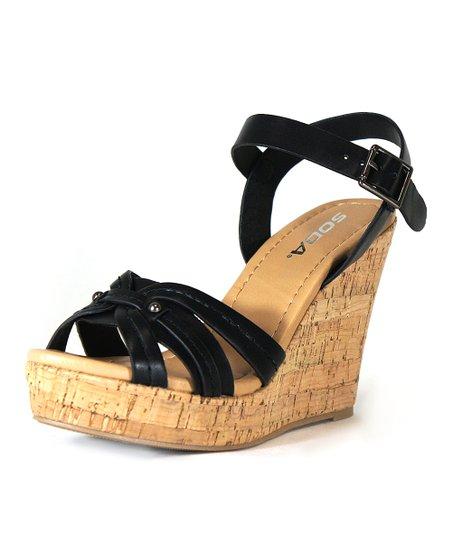 8a063576a44 SODA Black Grace Sandal - Women